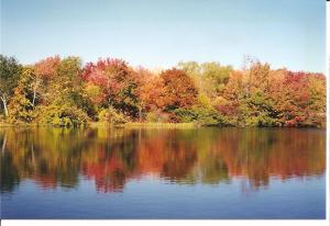 Fall in New England-Lake and Trees